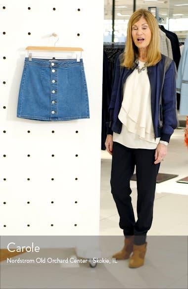 Button Front Denim Miniskirt, sales video thumbnail