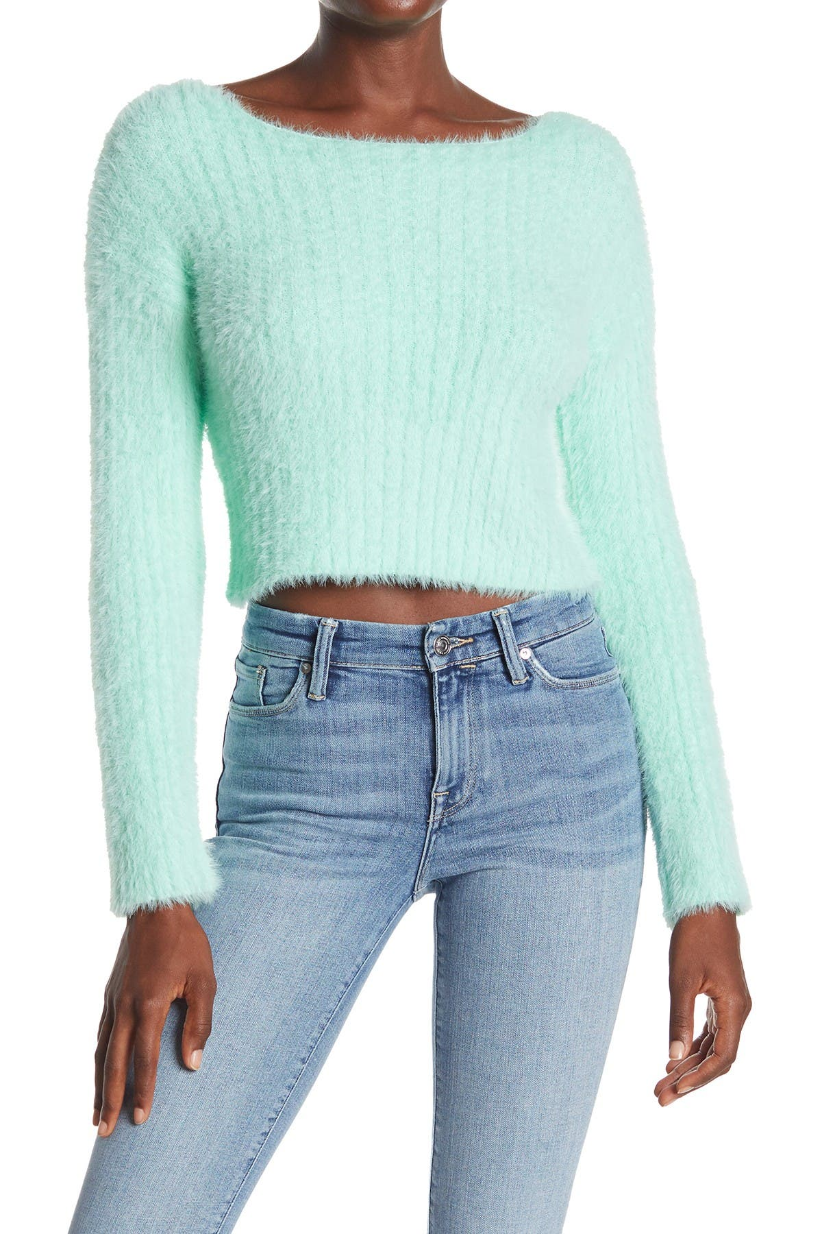 Image of HYFVE Fuzzy Cropped Sweater