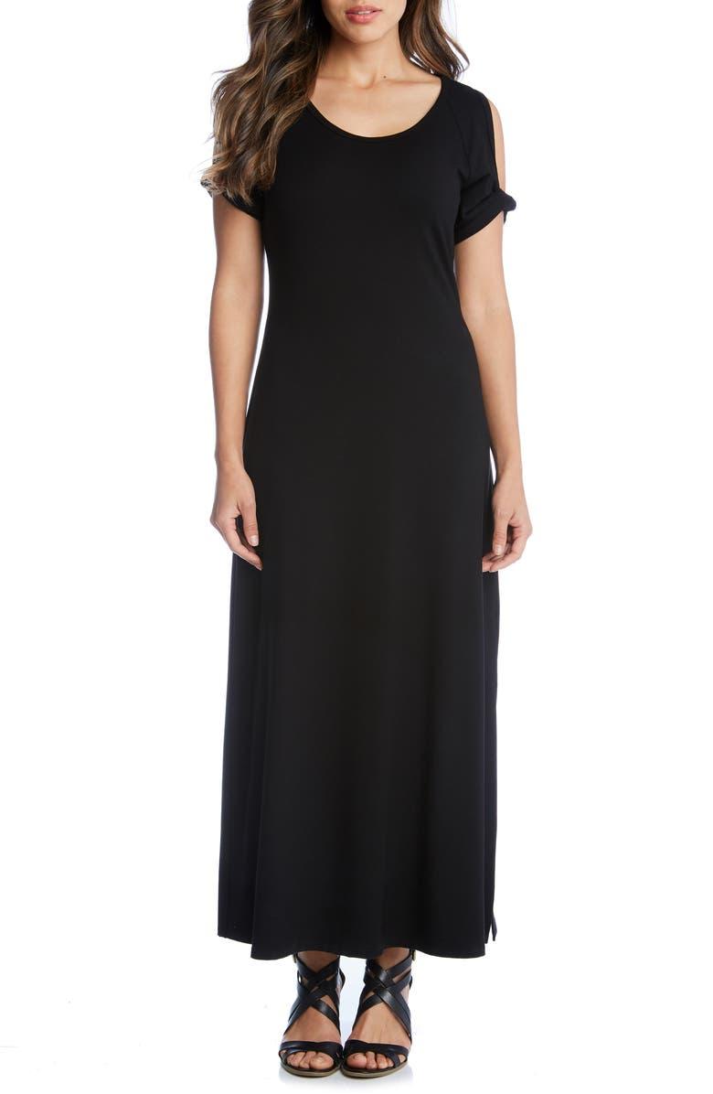 KAREN KANE Alana Cold Shoulder Midi Dress, Main, color, 001