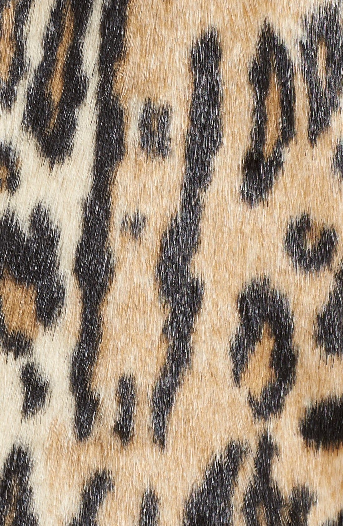 ,                             'Montana' Leopard Print Faux Fur Double Breasted Coat,                             Alternate thumbnail 4, color,                             219
