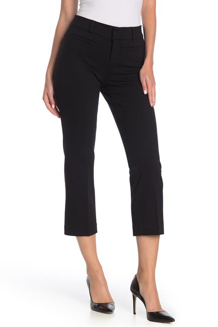 Image of Liverpool Jeans Co Welt Pocket Cropped Flare Trousers