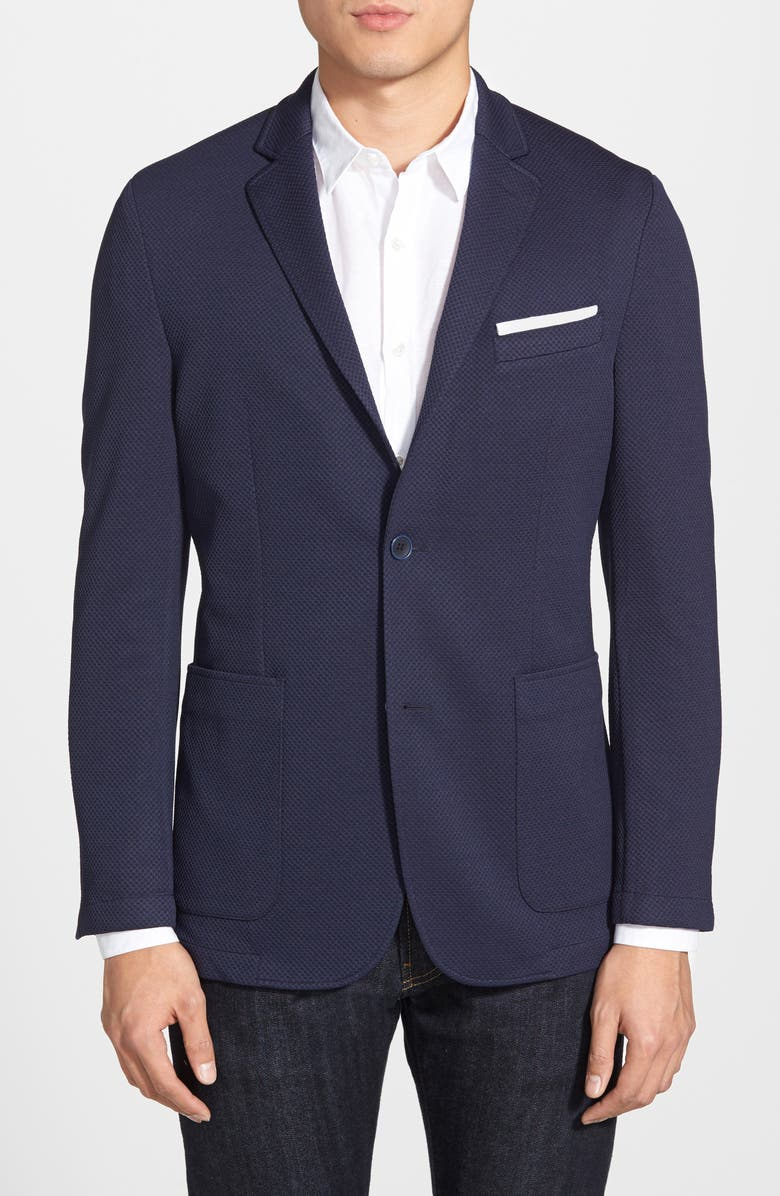 VINCE CAMUTO Slim Fit Stretch Knit Sport Coat, Main, color, NAVY
