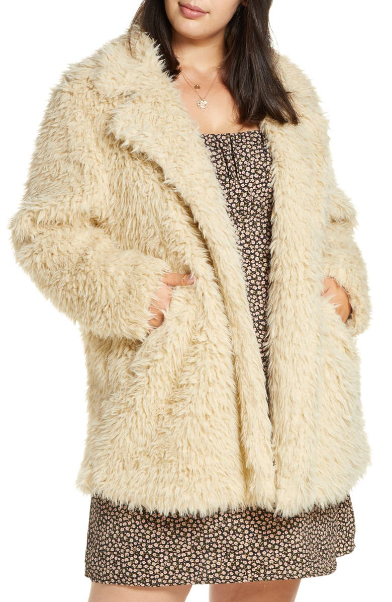 BP. Faux Fur Teddy Coat, Main, color, 210