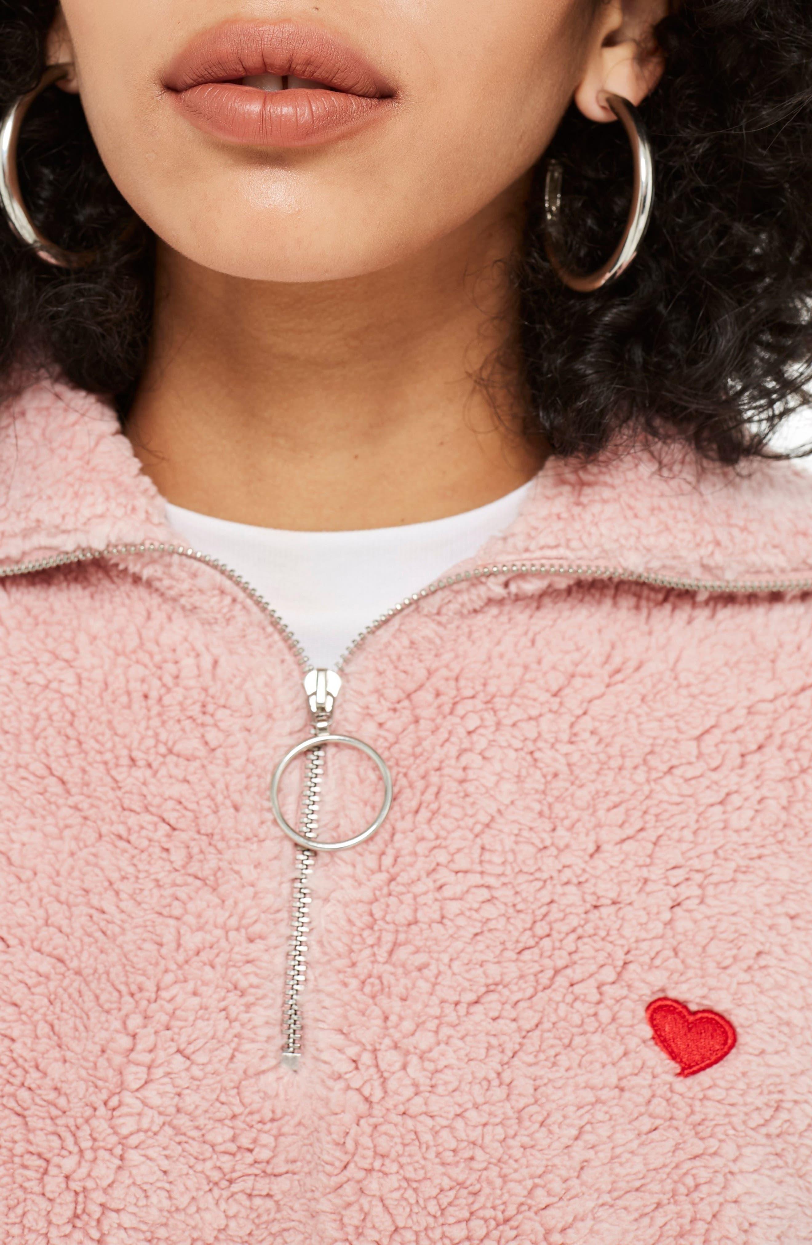 ,                             Borg Heart Quarter Zip Pullover,                             Alternate thumbnail 16, color,                             650