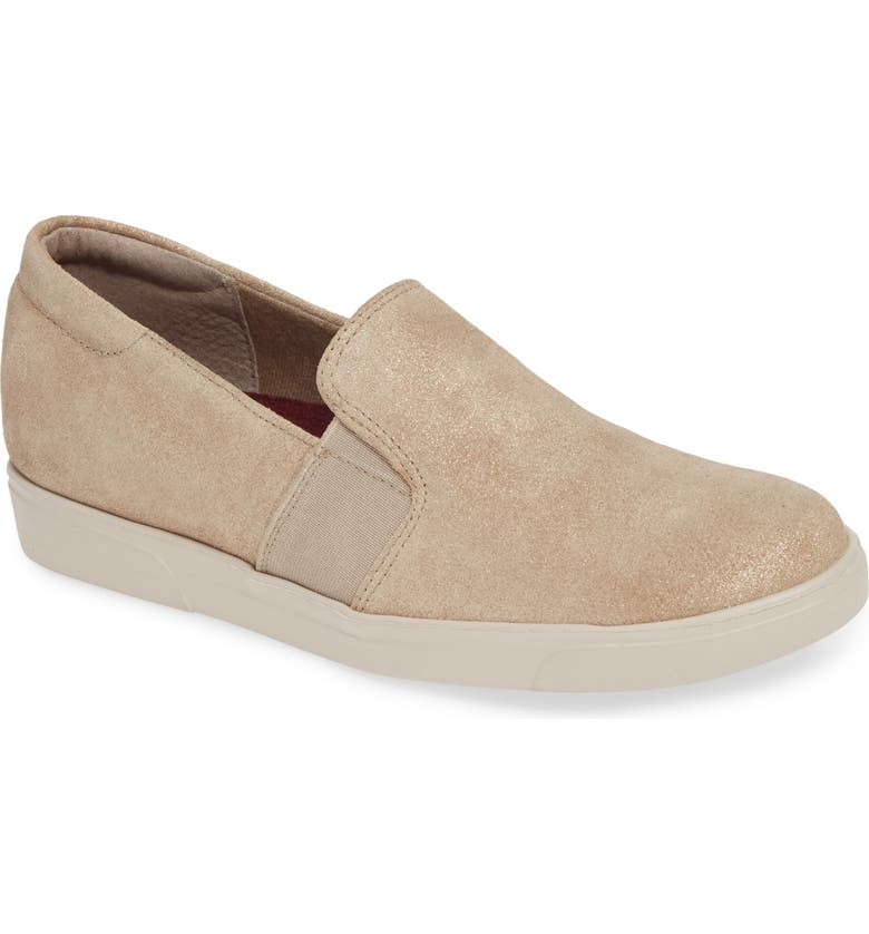 MUNRO Randie Slip-On Sneaker, Main, color, GOLD LEATHER