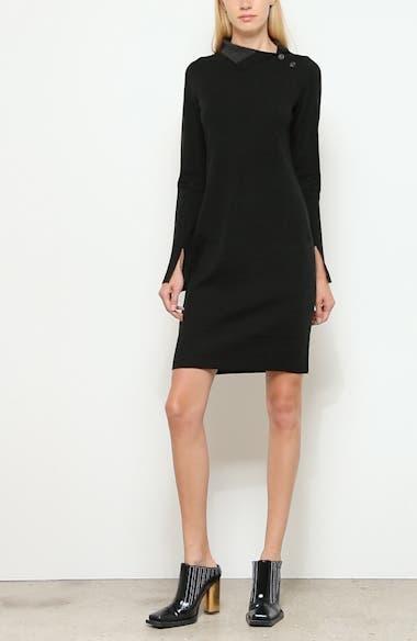 High Neck Long Sleeve Sweater Dress, video thumbnail