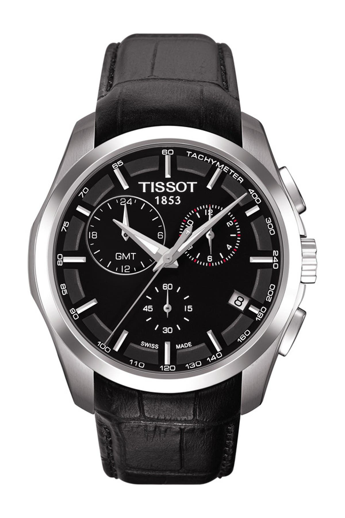 Image of Tissot Men's Couturier Chronograph Quartz Leather Strap Watch, 41mm