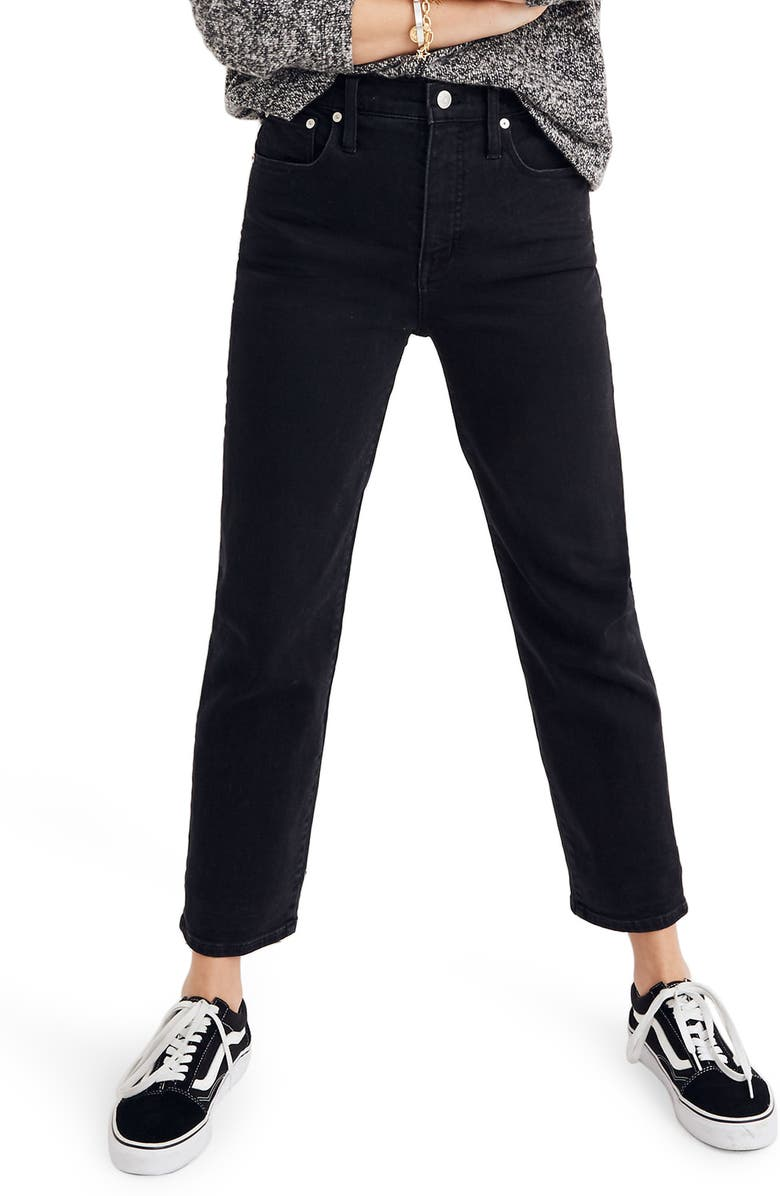 MADEWELL Classic Straight Leg Jeans, Main, color, LUNAR WASH
