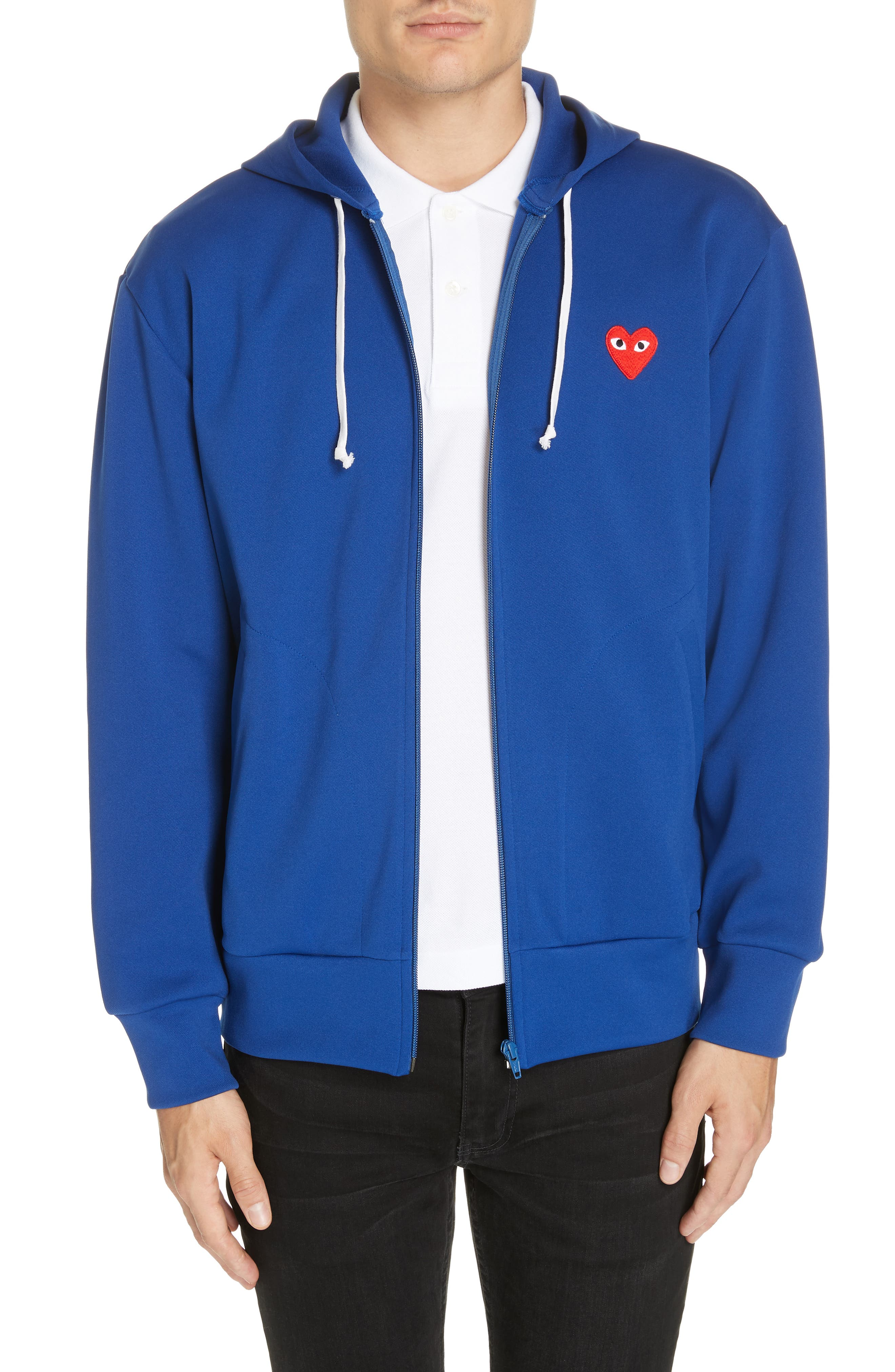 Zip-Up Hoodie, Main, color, NAVY