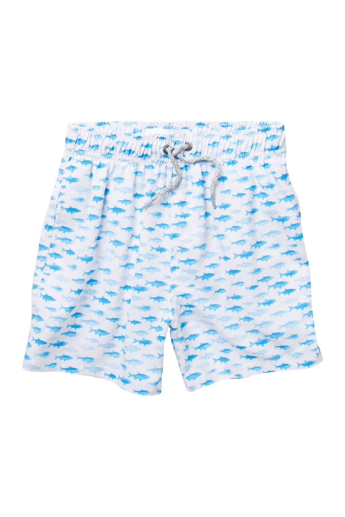Image of Vintage Summer Printed Drawstring Swim Shorts