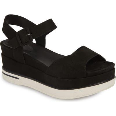 Eileen Fisher Brey Platform Sandal- Black