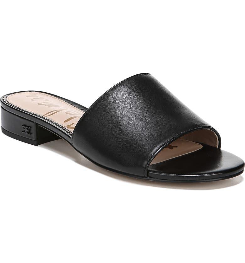 SAM EDELMAN Kenz Slide Sandal, Main, color, BLACK