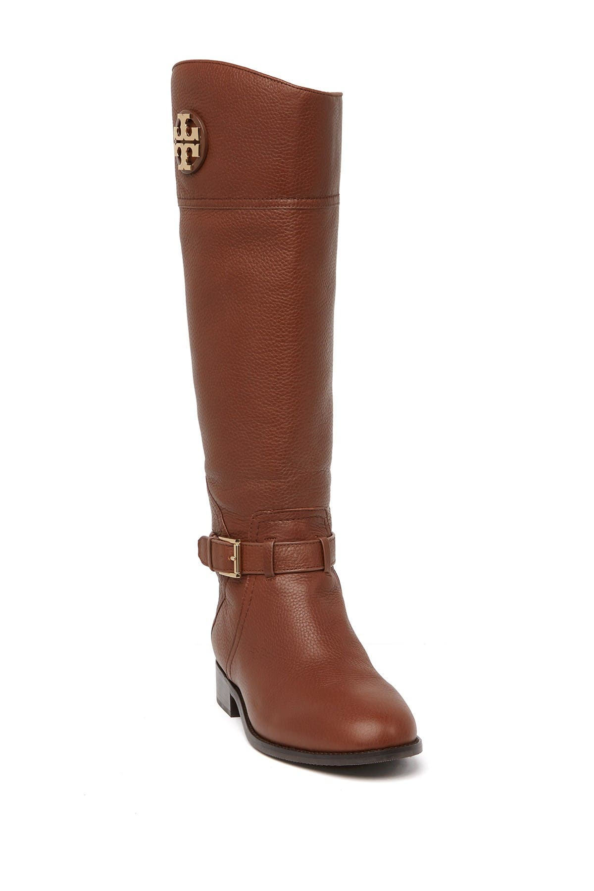 Adeline Tumbled Leather Riding Boot
