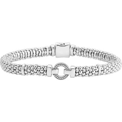 Lagos Enso Boxed Circle Station Caviar Rope Bracelet