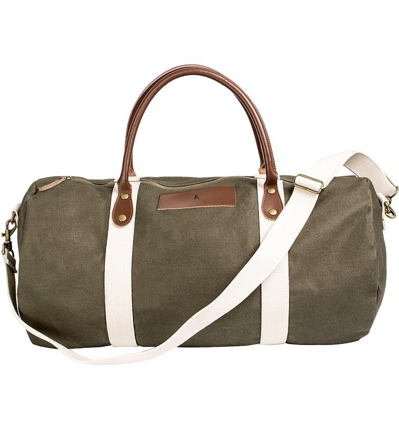 CATHY'S CONCEPTS Cathys Concepts Monogram Duffle Bag, Main, color, GREEN-A
