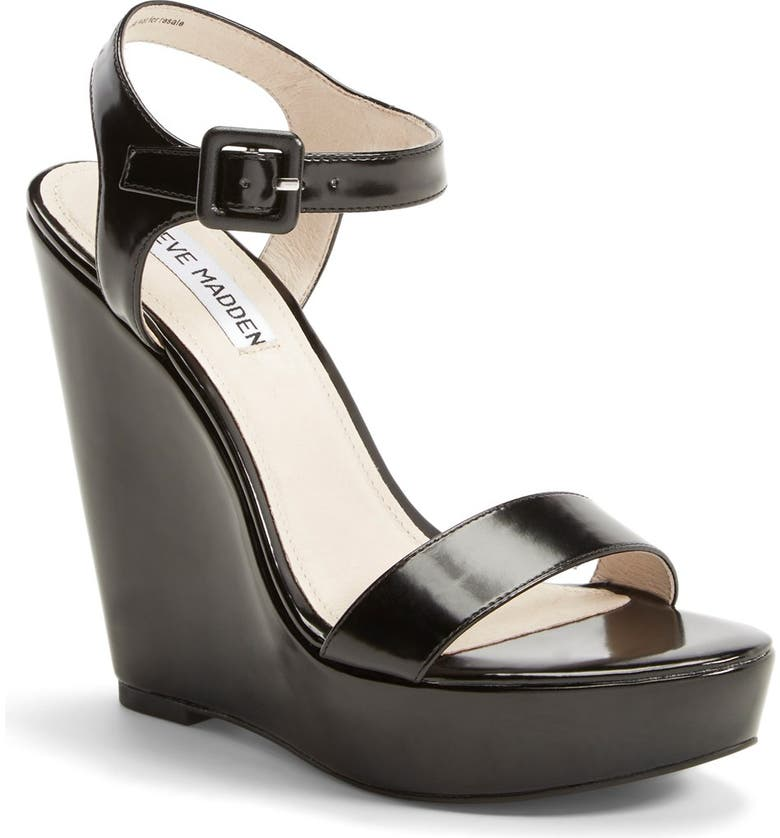 STEVE MADDEN 'Prestine' Wedge Sandal, Main, color, 005