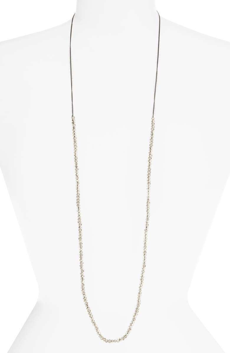 CHAN LUU Crystal Layering Necklace, Main, color, GREY CRYSTAL