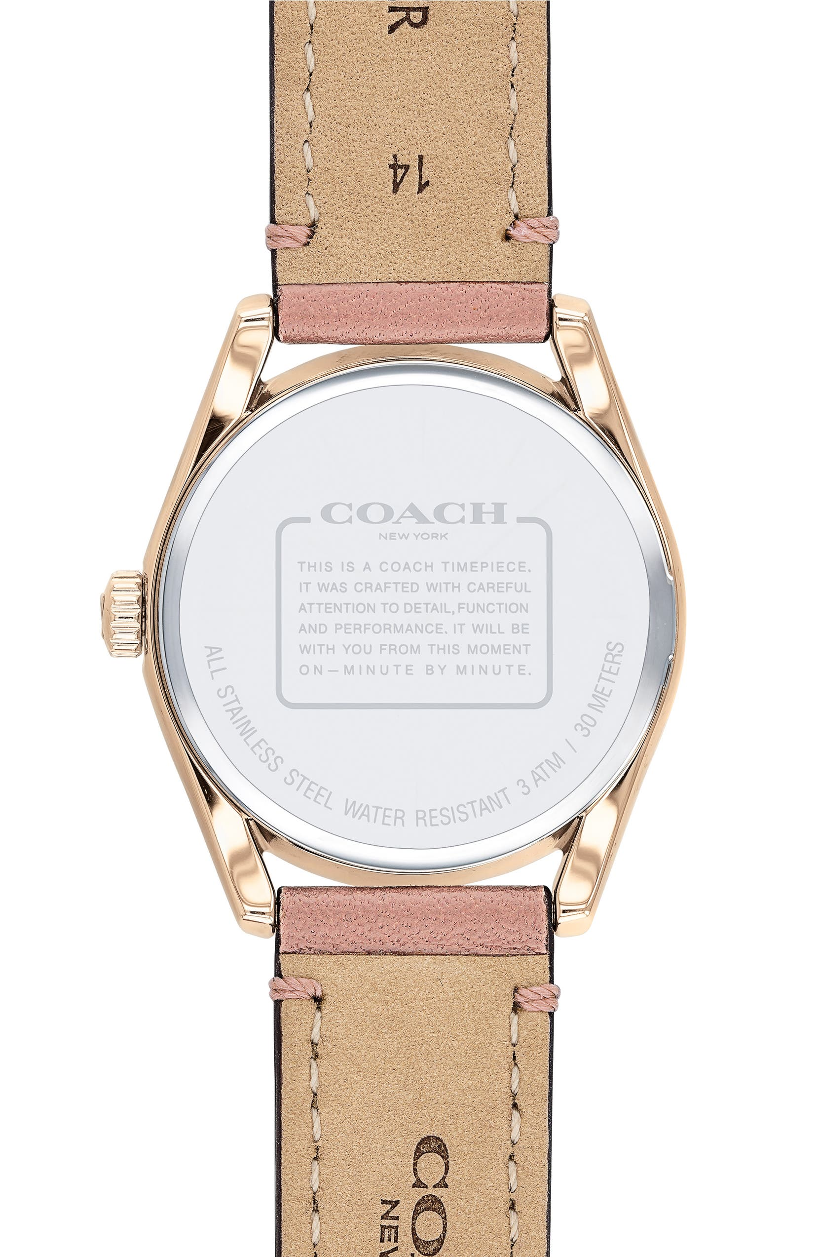 7abad2af6e COACH Preston Leather Strap Watch, 28mm | Nordstrom