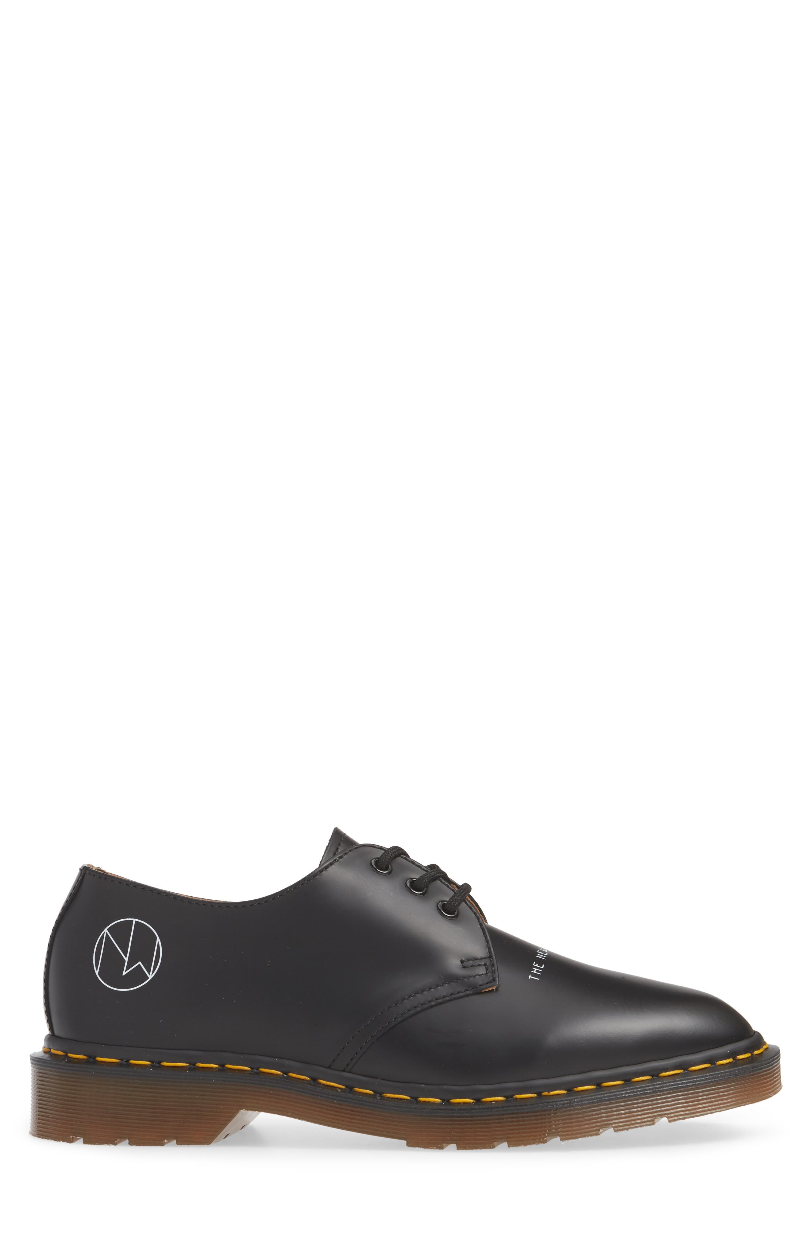 ,                             x UNDERCOVER 1461 Derby,                             Alternate thumbnail 3, color,                             BLACK LEATHER