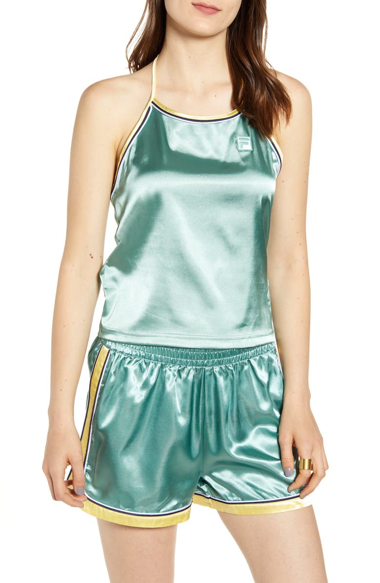 FILA Marisol Satin Halter Tank, Main, color, 334