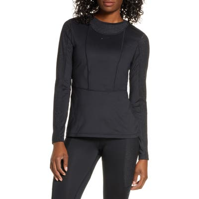 Nike Pro Warm Hollywood Long Sleeve Top, Black