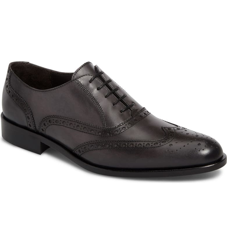 TO BOOT NEW YORK Winmington Wingtip, Main, color, ANTHRACITE GREY LEATHER