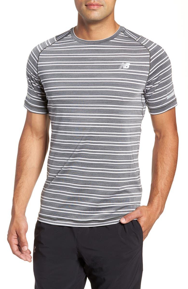 NEW BALANCE Seasonless Crewneck T-Shirt, Main, color, 001