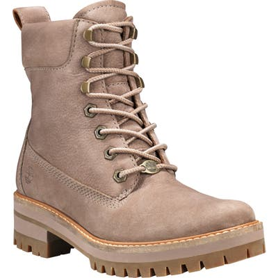 Timberland Courmayeur Valley Water Resistant Hiking Boot- Beige