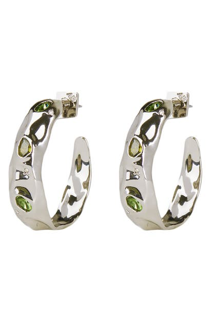 Alexis Bittar FUTURE ANTIQUITY CRUMPLED HOOP EARRINGS