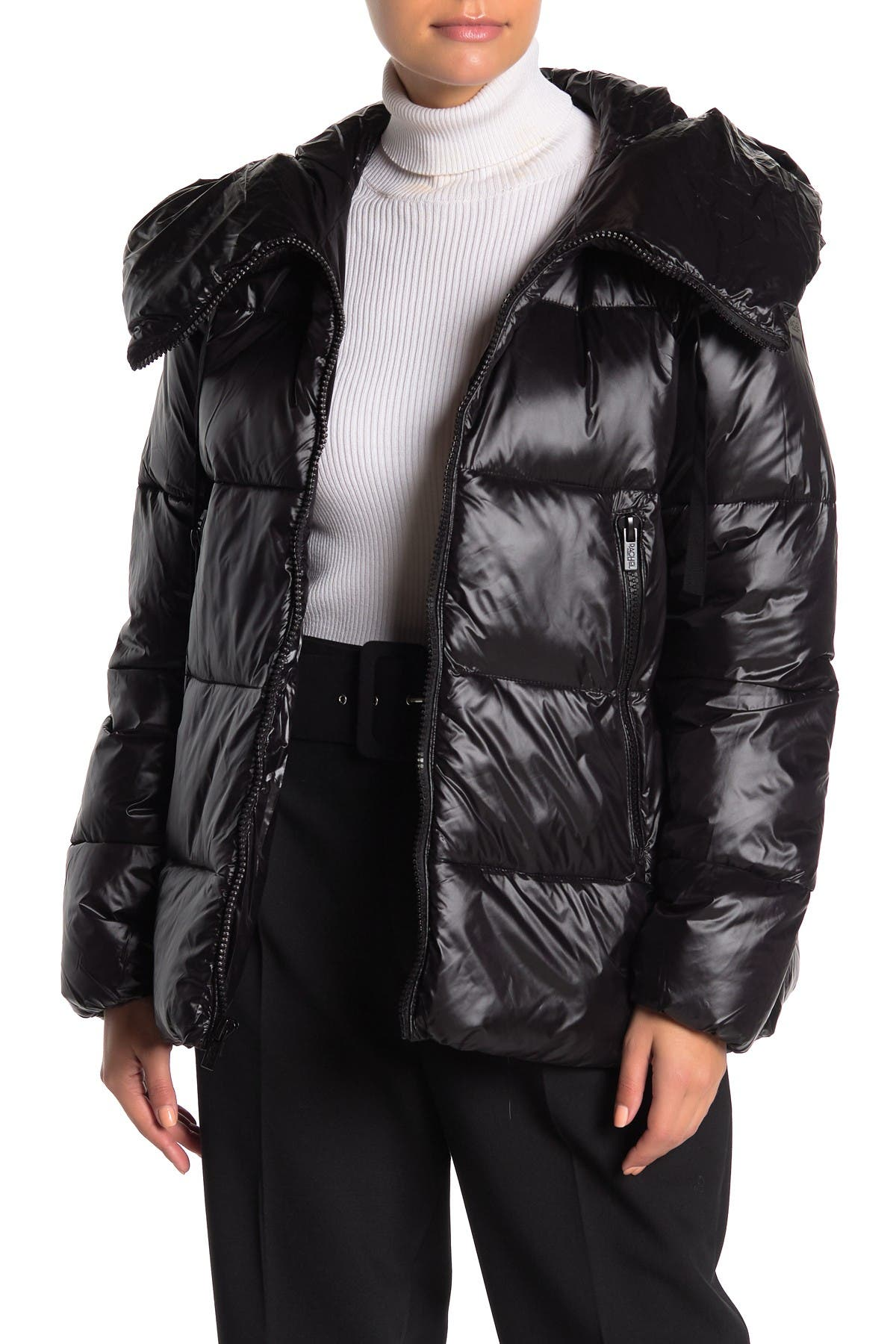 Rachel Rachel Roy Hooded Zip Puffer Jacket