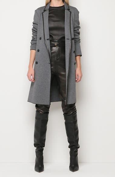 Graphic Twill Knit Coat, video thumbnail