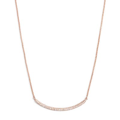 Vince Camuto Curved Pave Bar Necklace