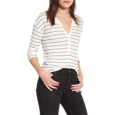 Splendid Stripe Henley, White