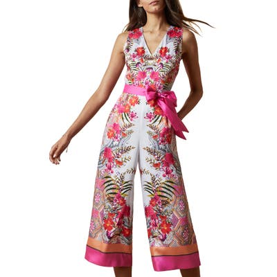 Ted Baker London Solana Samba Jumpsuit, (fits like 14 US) - Ivory