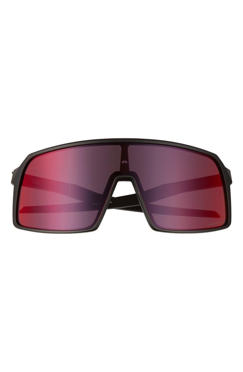 OAKLEY Sutro 137mm Shield Sunglasses, Main, color, 001