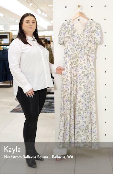 s Floral V-Neck Maxi Dress, sales video thumbnail