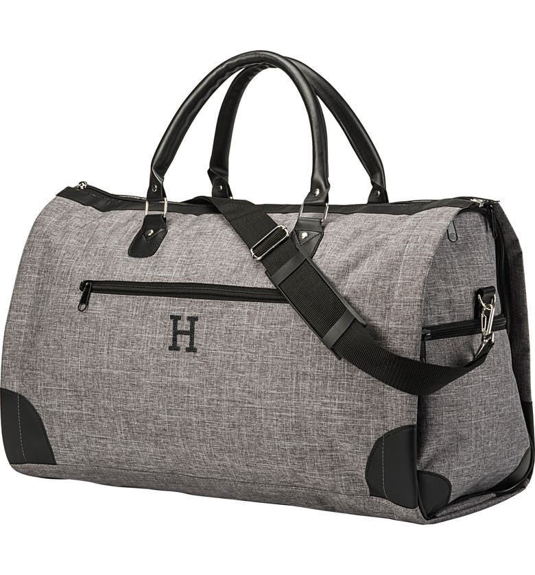 CATHY'S CONCEPTS Monogram Duffel/Garment Bag, Main, color, GREY H
