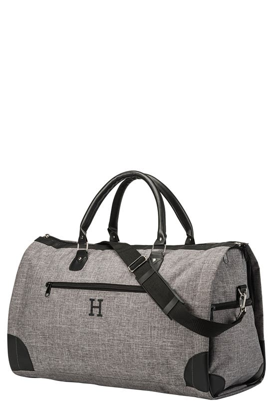 Cathy's Concepts Cathys Concepts Monogram Duffle/garment Bag In Grey H