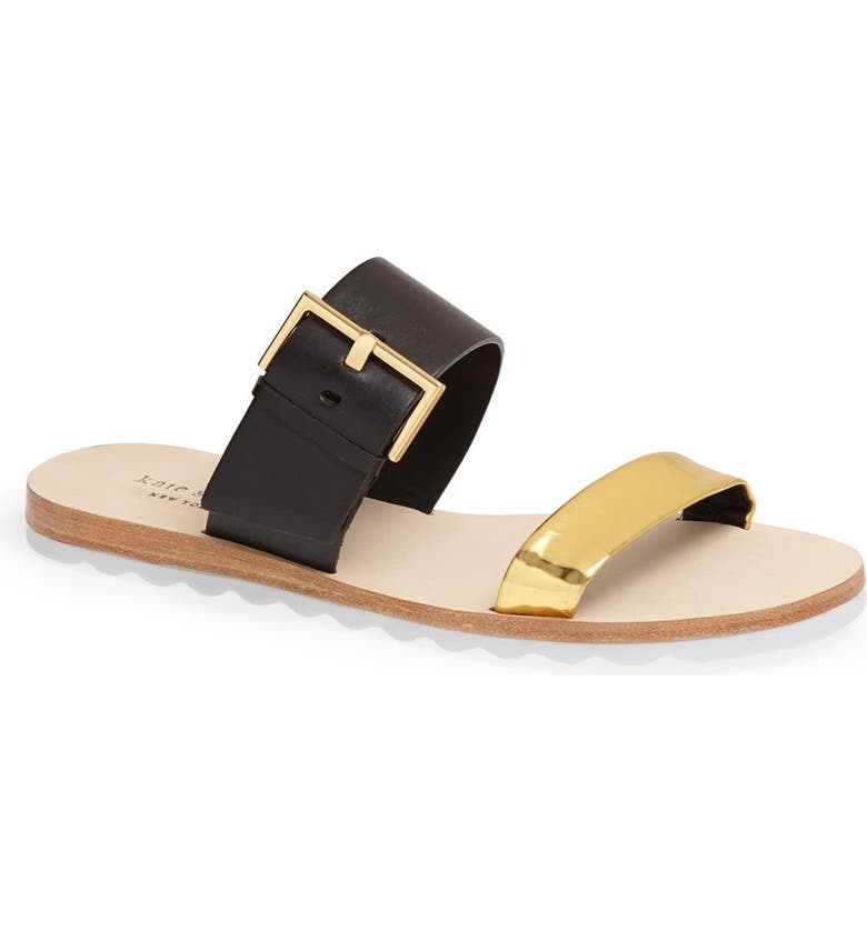 KATE SPADE NEW YORK 'attitude' slide sandal, Main, color, 001
