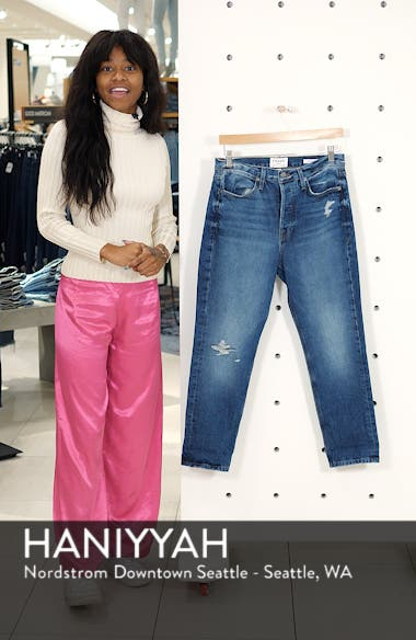 Le Pegged Cuffed Crop Jeans, sales video thumbnail