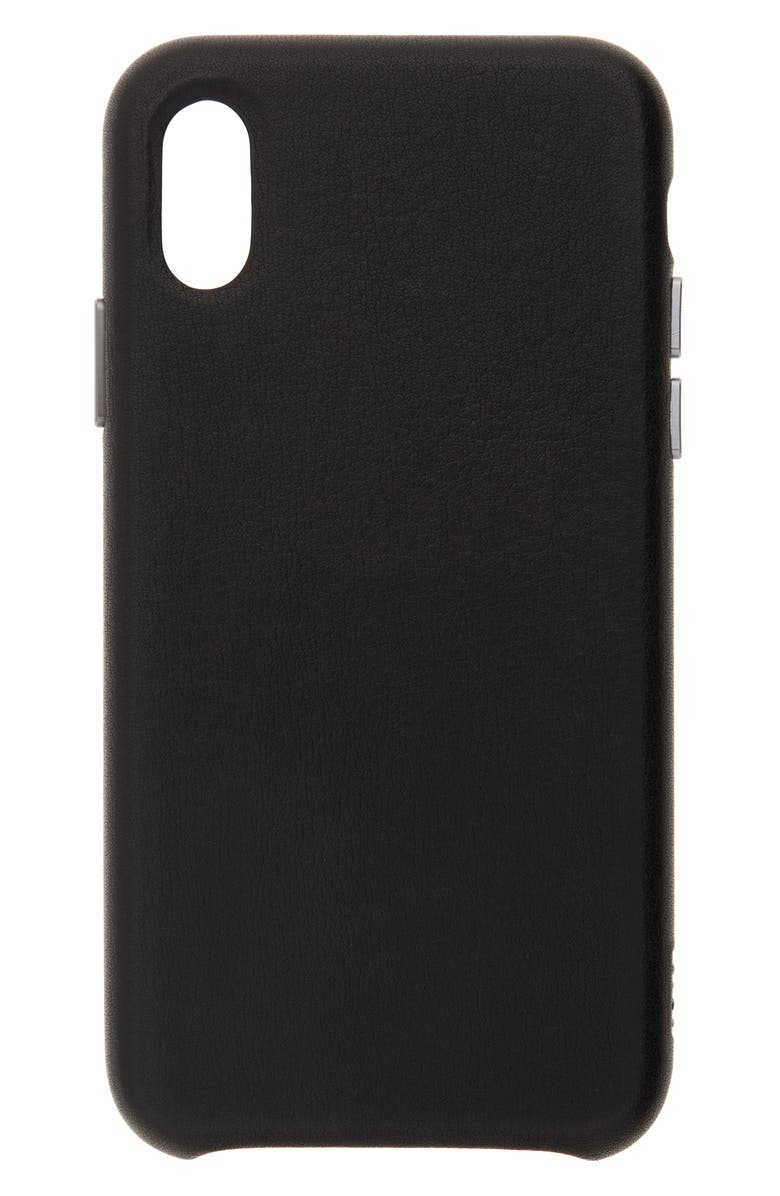 SENA Deen Leather iPhone X/Xs/Xs Max & XR Case, Main, color, 001