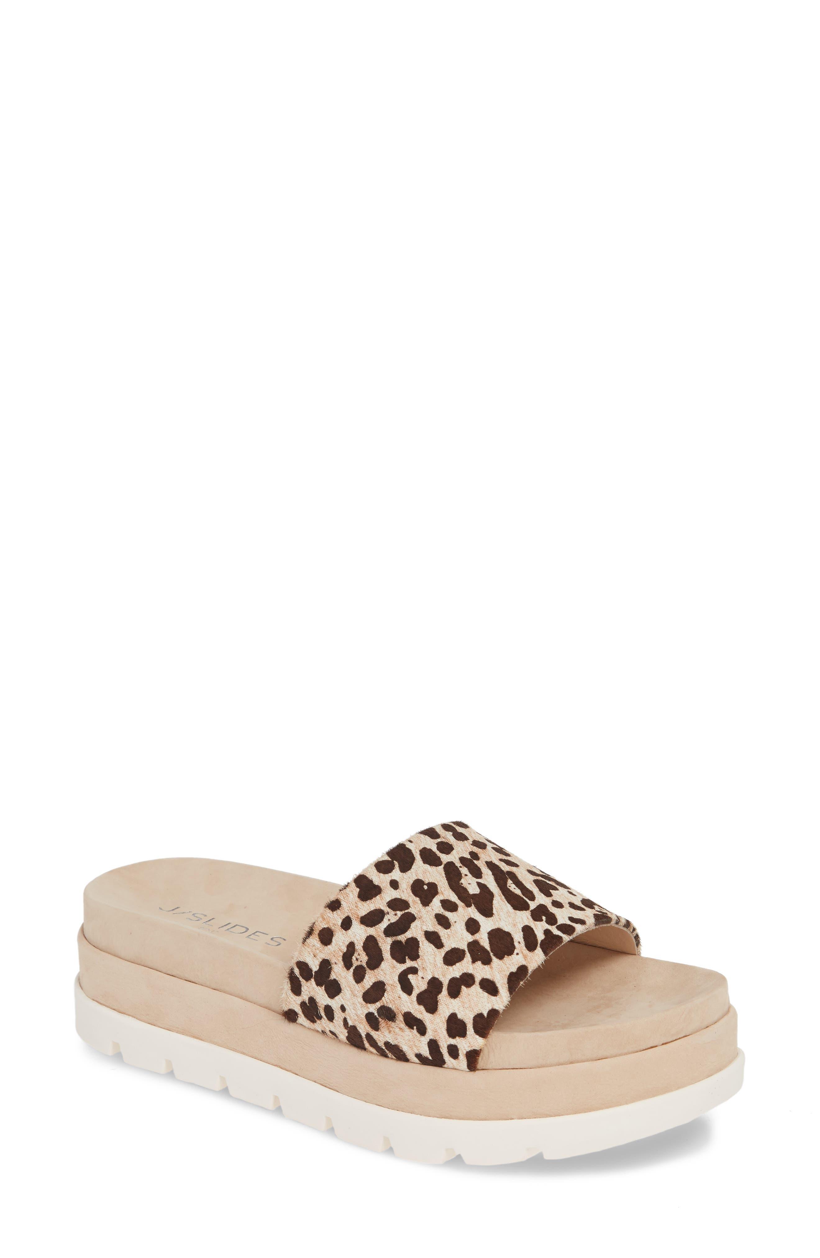 Jslides Bibi Platform Sandal- Beige