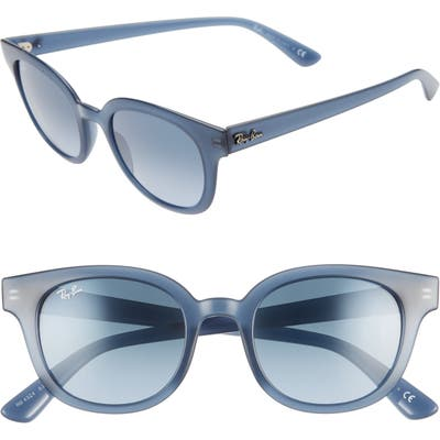 Ray-Ban 50Mm Polarized Square Sunglasses - Trans Blue