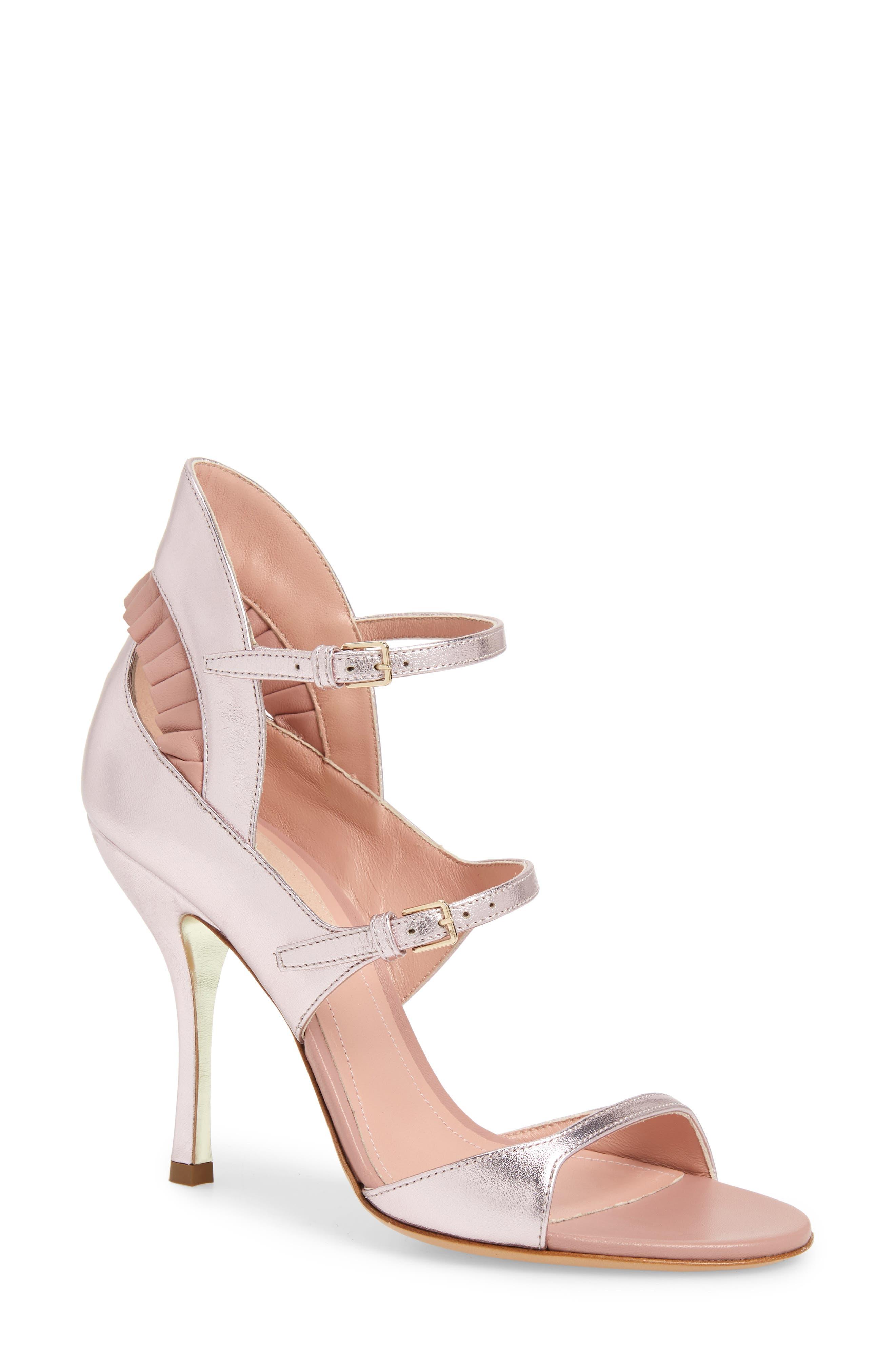 Dahlia Selva Guilty Pleats Sandal, Pink