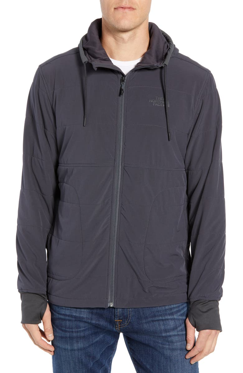 THE NORTH FACE Mountain 2.0 Quilted Zip Hoodie, Main, color, WEATHERED BLACK