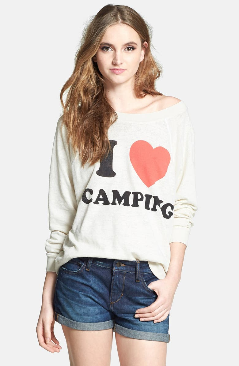 WILDFOX 'I Love Camping' Sweater, Main, color, 900
