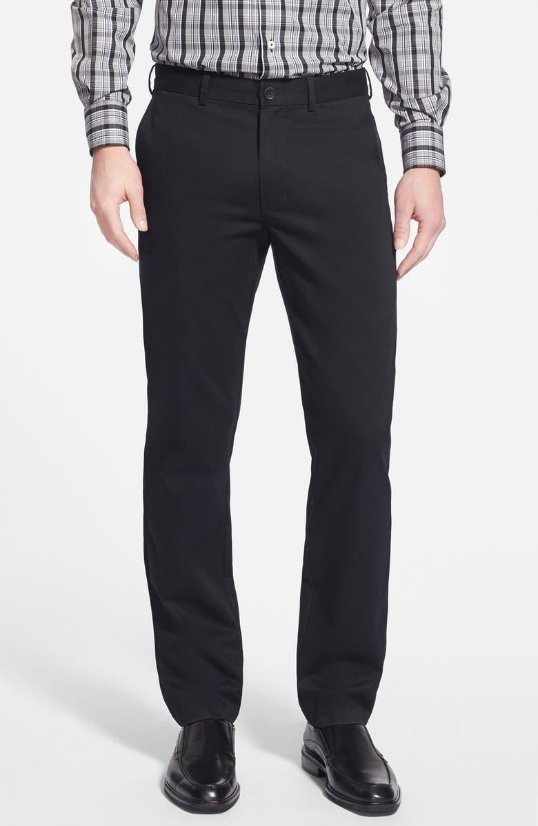 NORDSTROM MEN'S SHOP Smartcare<sup>™</sup> Slim Leg Twill Pants, Main, color, 001