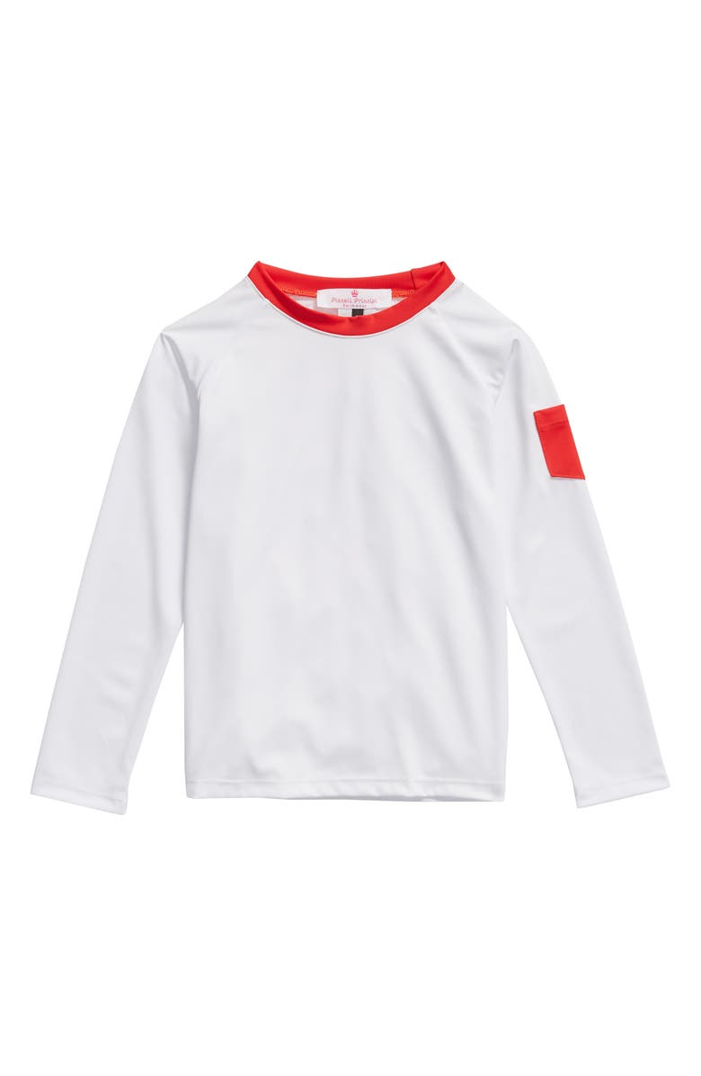 PICCOLI PRINCIPI Long Sleeve Rashguard, Main, color, WHITE/RED