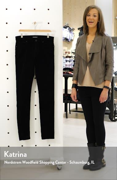 Greyson Velveteen Skinny Fit Jeans, sales video thumbnail