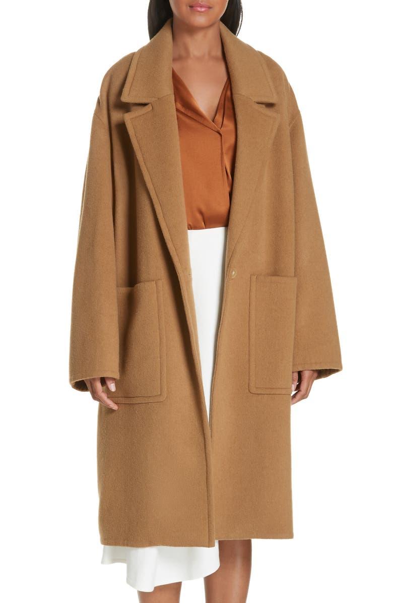 VINCE Patch Pocket Wool Blend Car Coat, Main, color, 230